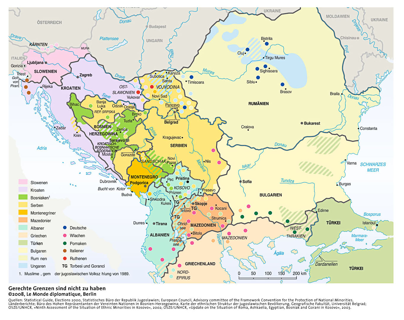 Ex Jugoslawien Karte.Lmd Karten