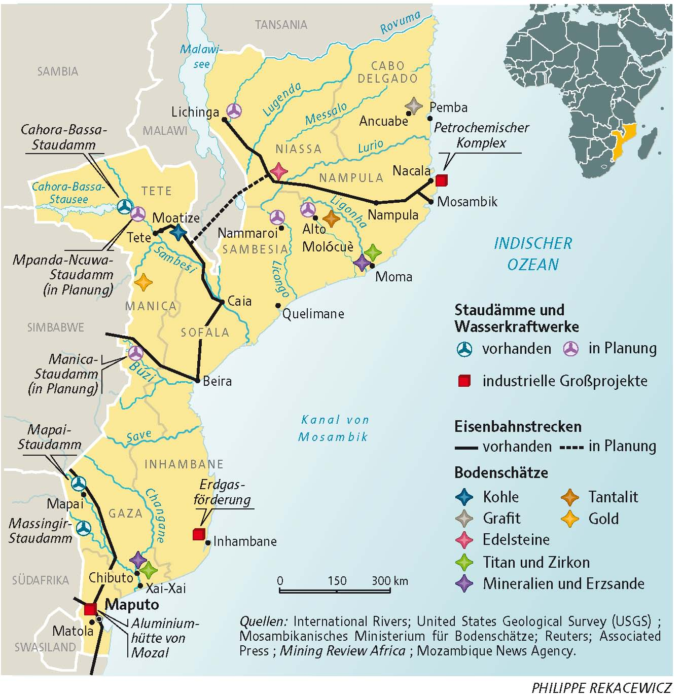 Mosambik Karte.Lmd Karten